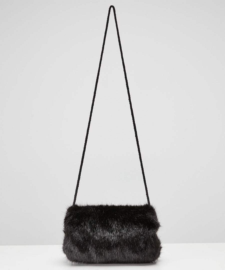 Anastasia Faux Fur Muff Model Front