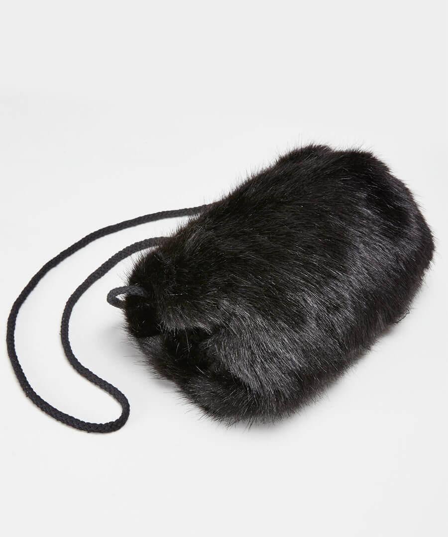 Anastasia Faux Fur Muff Back