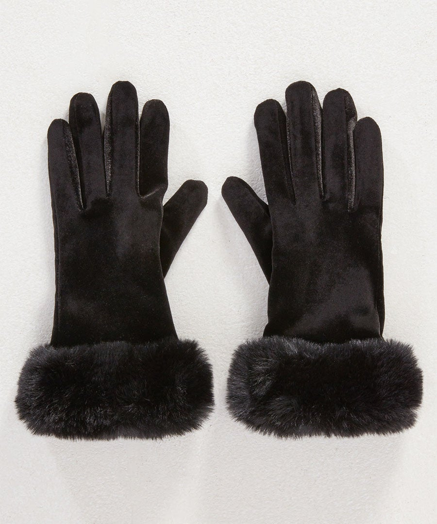 Anastasia Faux Fur Gloves