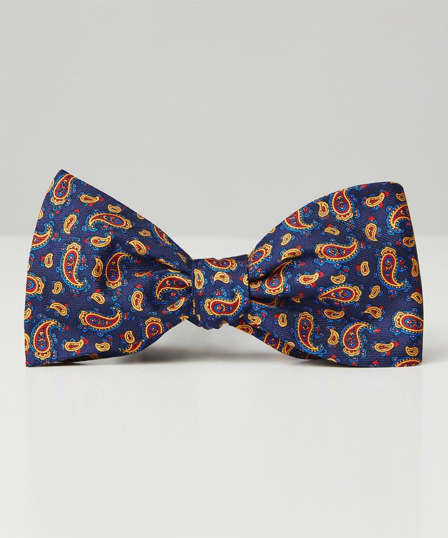 Dapper Silk Bow Tie Model Front