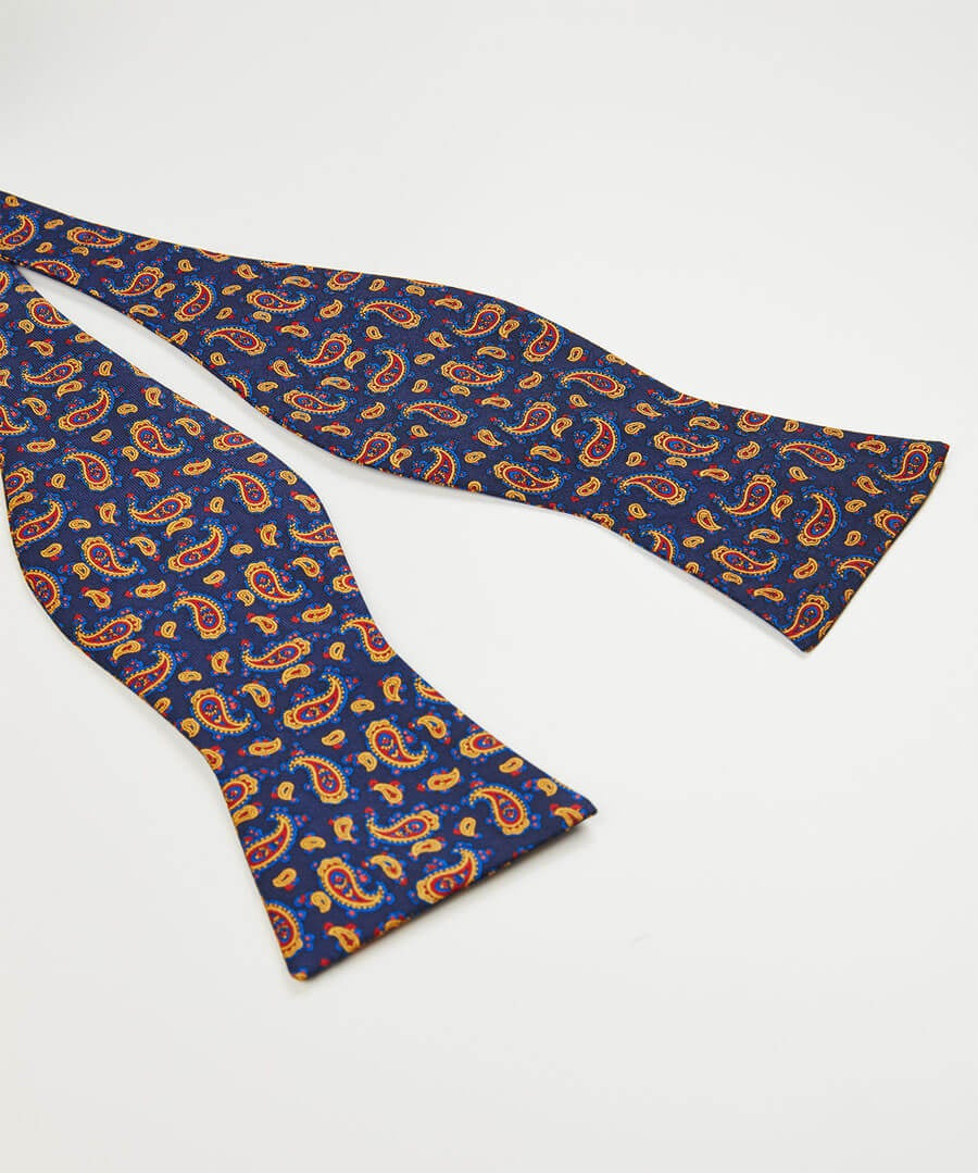 Dapper Silk Bow Tie Back