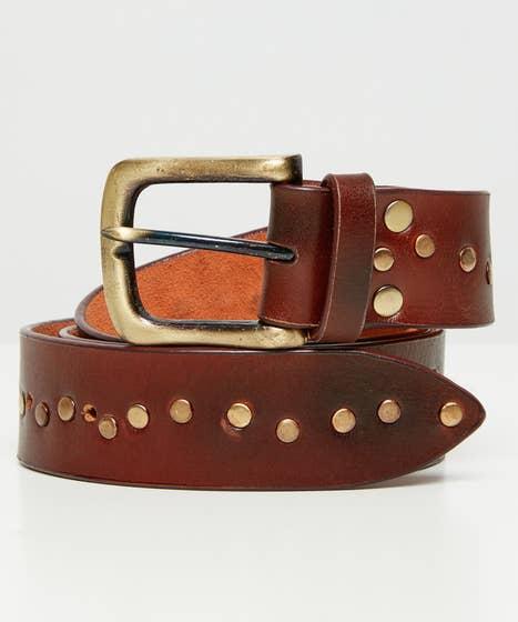 Remarkable Studded Leather Belt