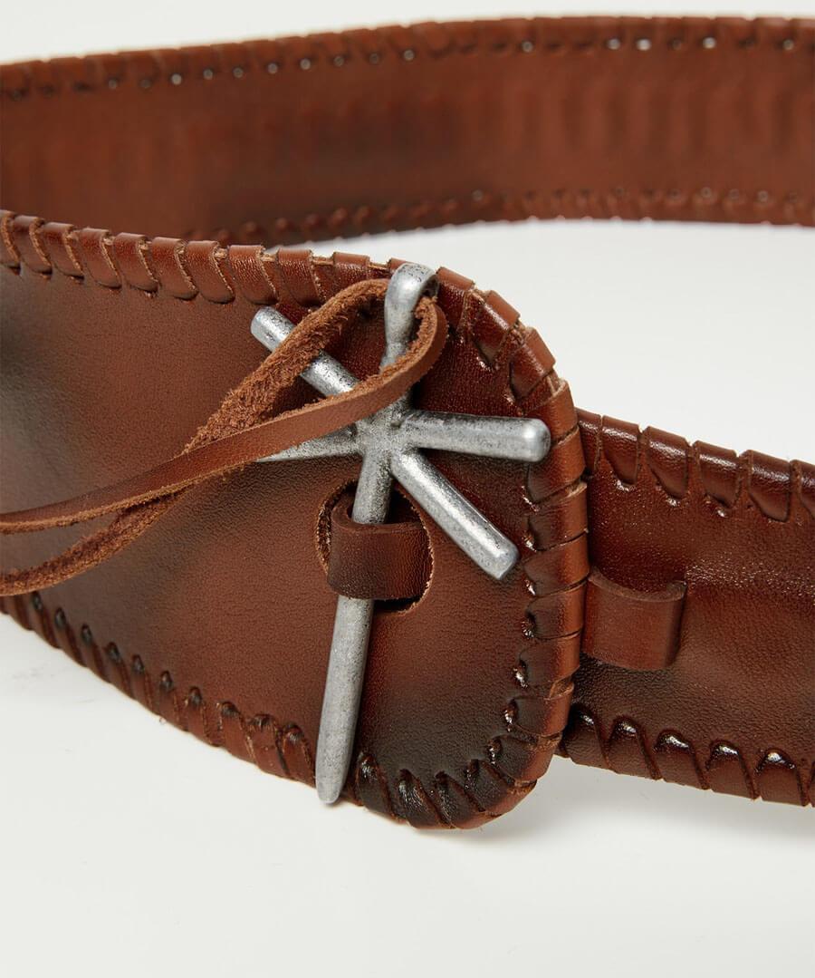 Sensational Whip Stitch Leather Belt Back