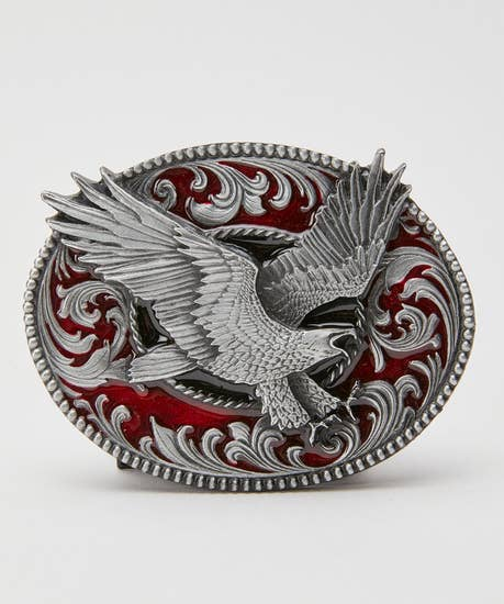 Eagle Pewter Oval Buckle