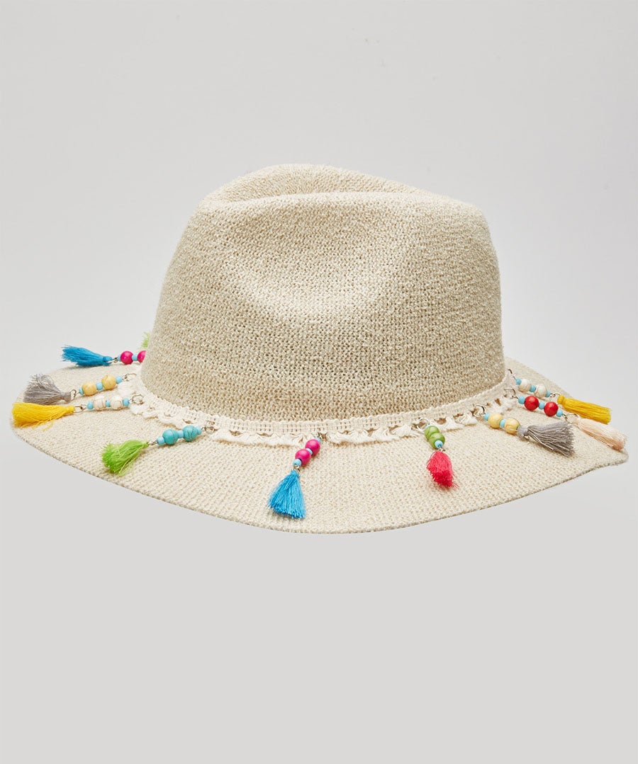 Sea Breeze Tassel Hat Model Front