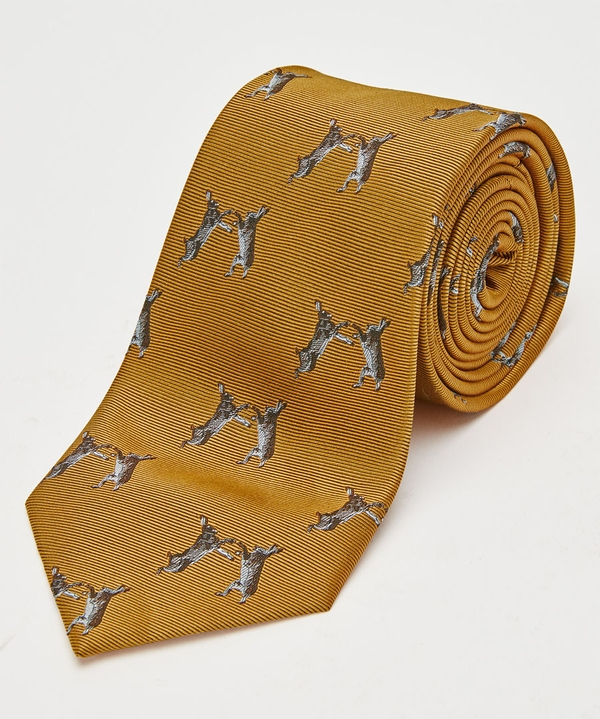 Boxing Hares Silk Tie
