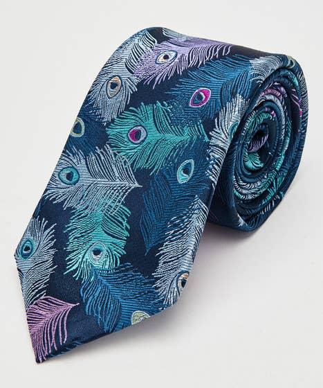Peacock Feather Premium Silk Tie