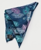 Peacock Feather Silk Pocket Square