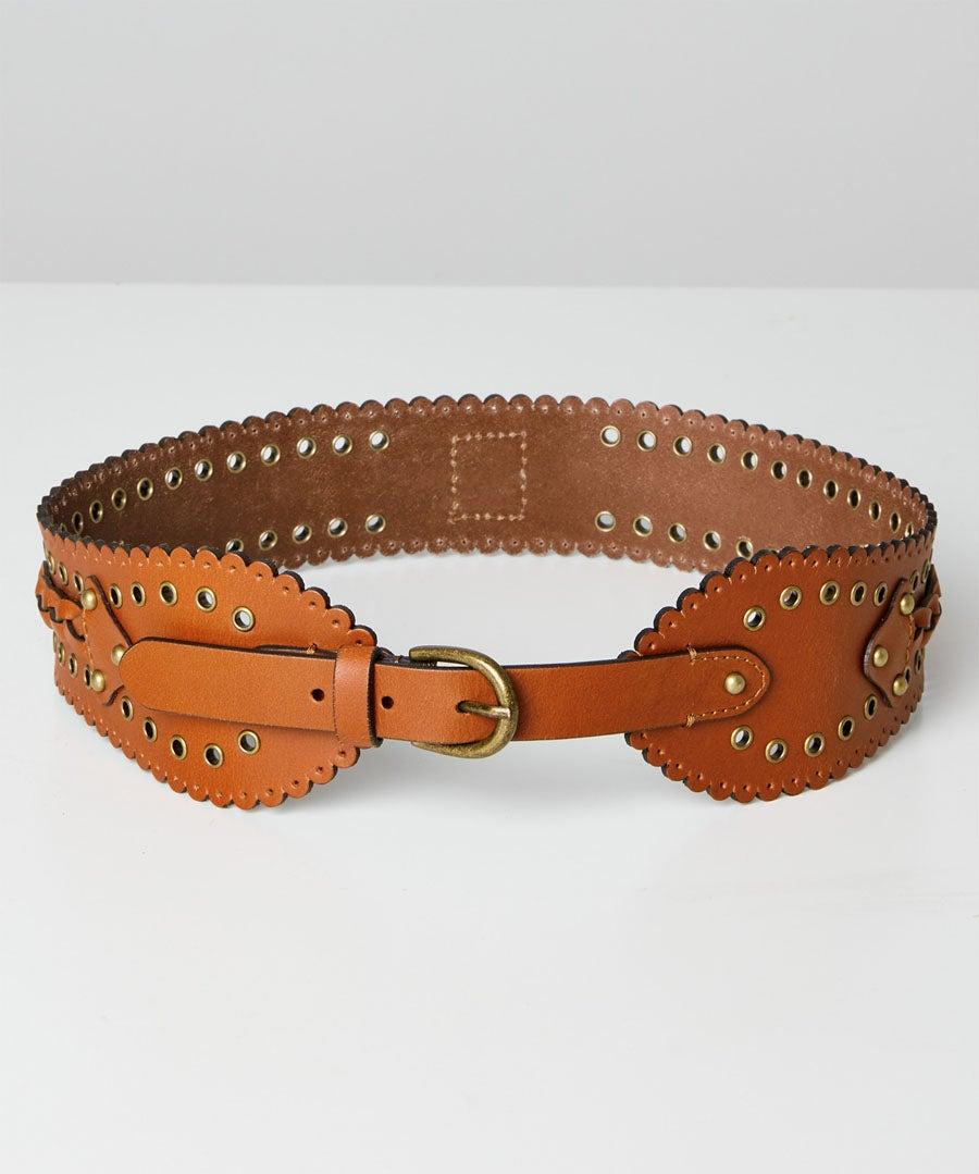 Game Changer Leather Belt Model Front