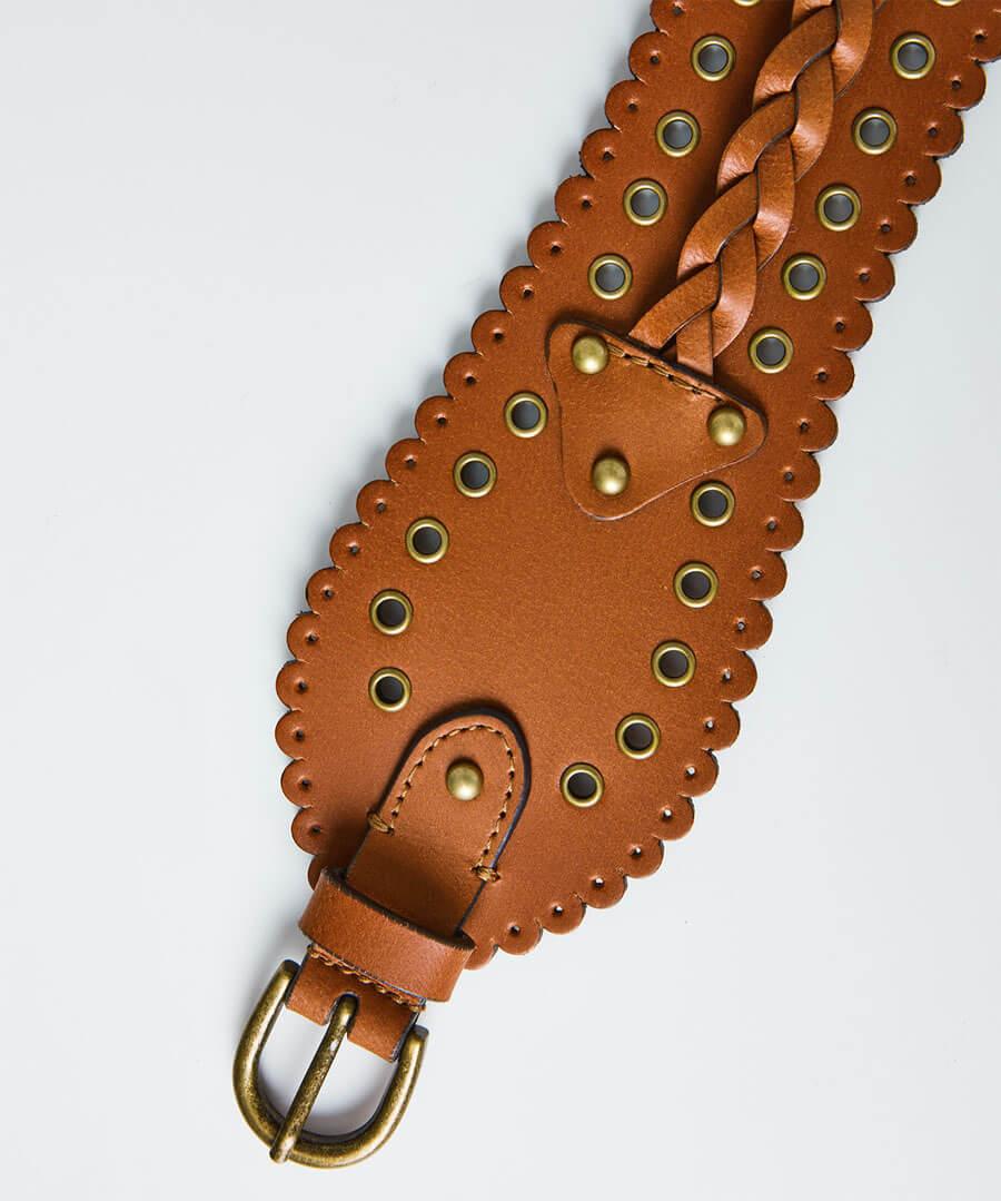 Game Changer Leather Belt Model Back