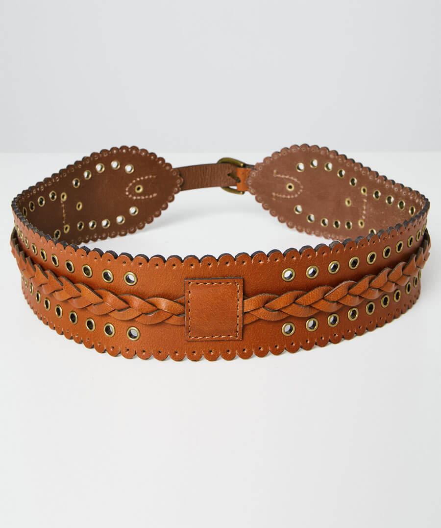 Game Changer Leather Belt Back