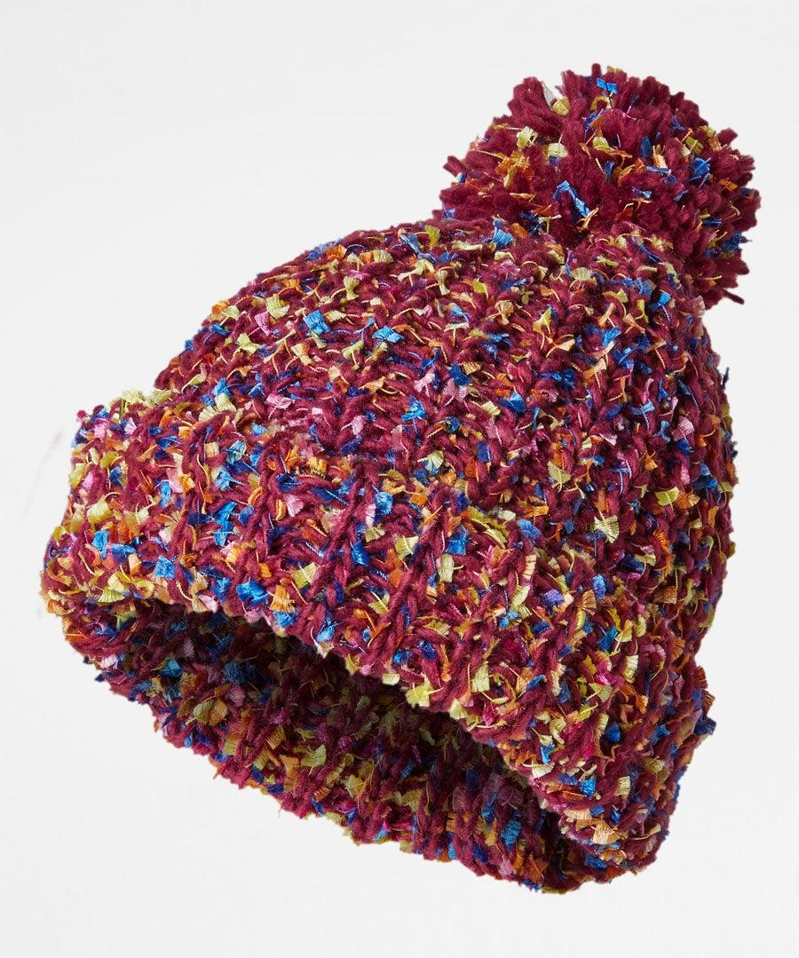 Funky Tape Yarn Bobble Hat