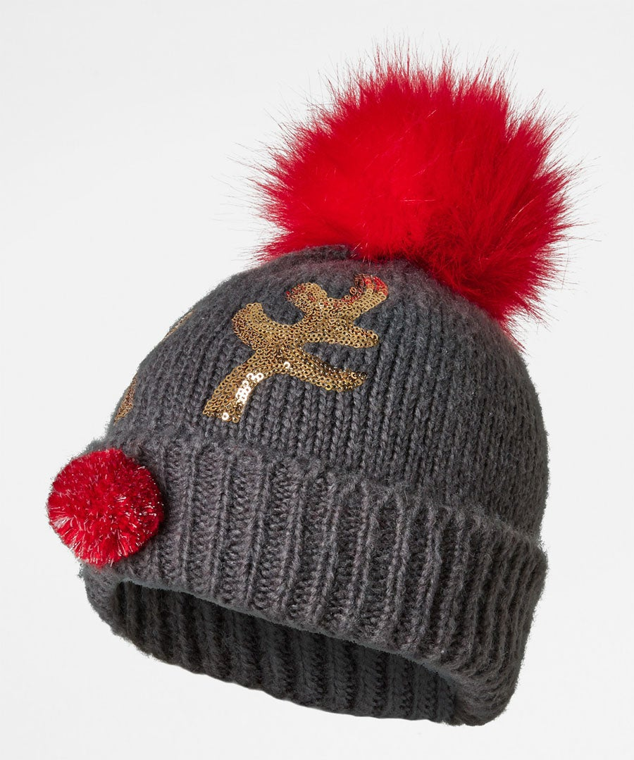 Fun And Festive Rudolph Hat Model Front