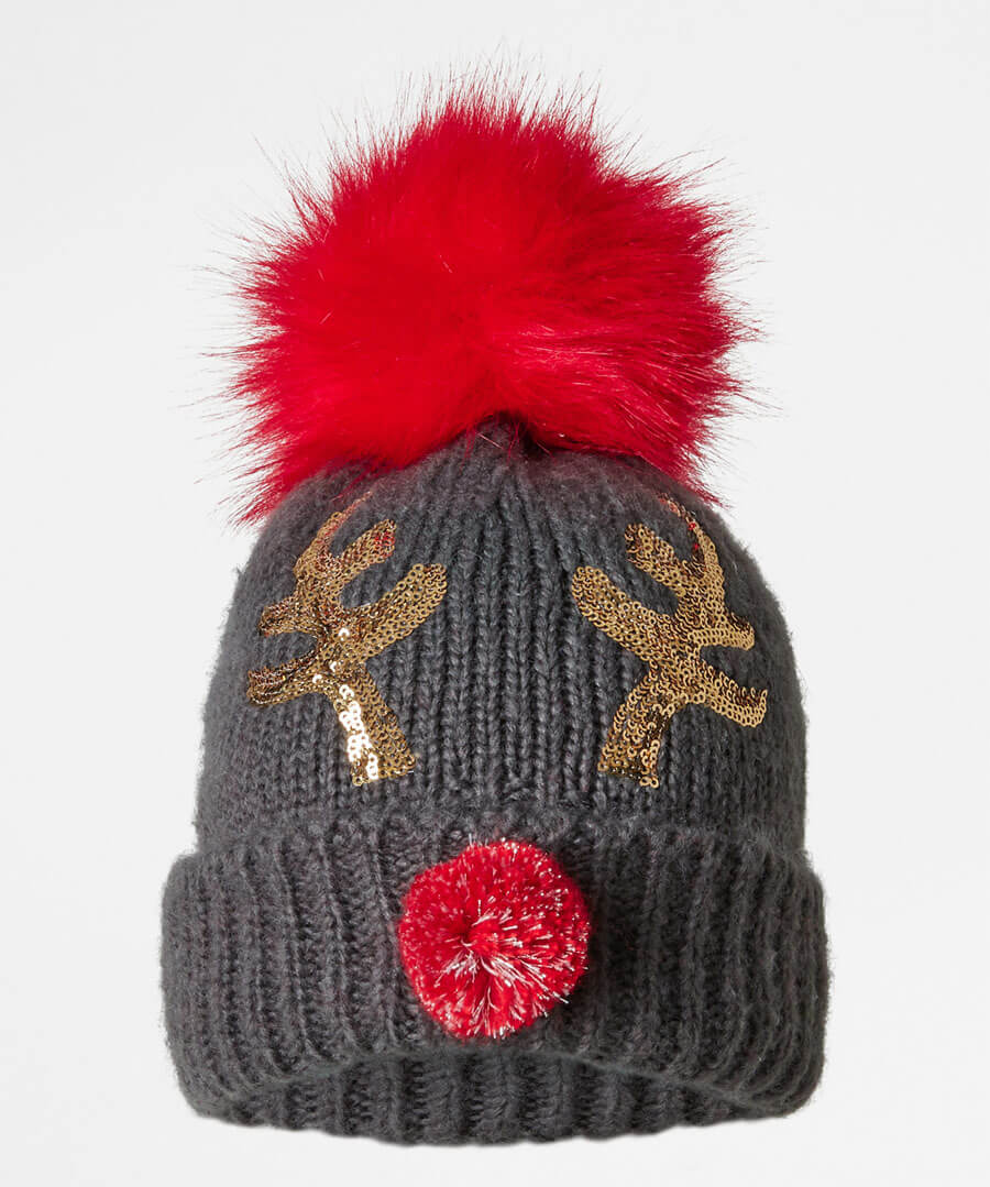 Fun And Festive Rudolph Hat Model Back