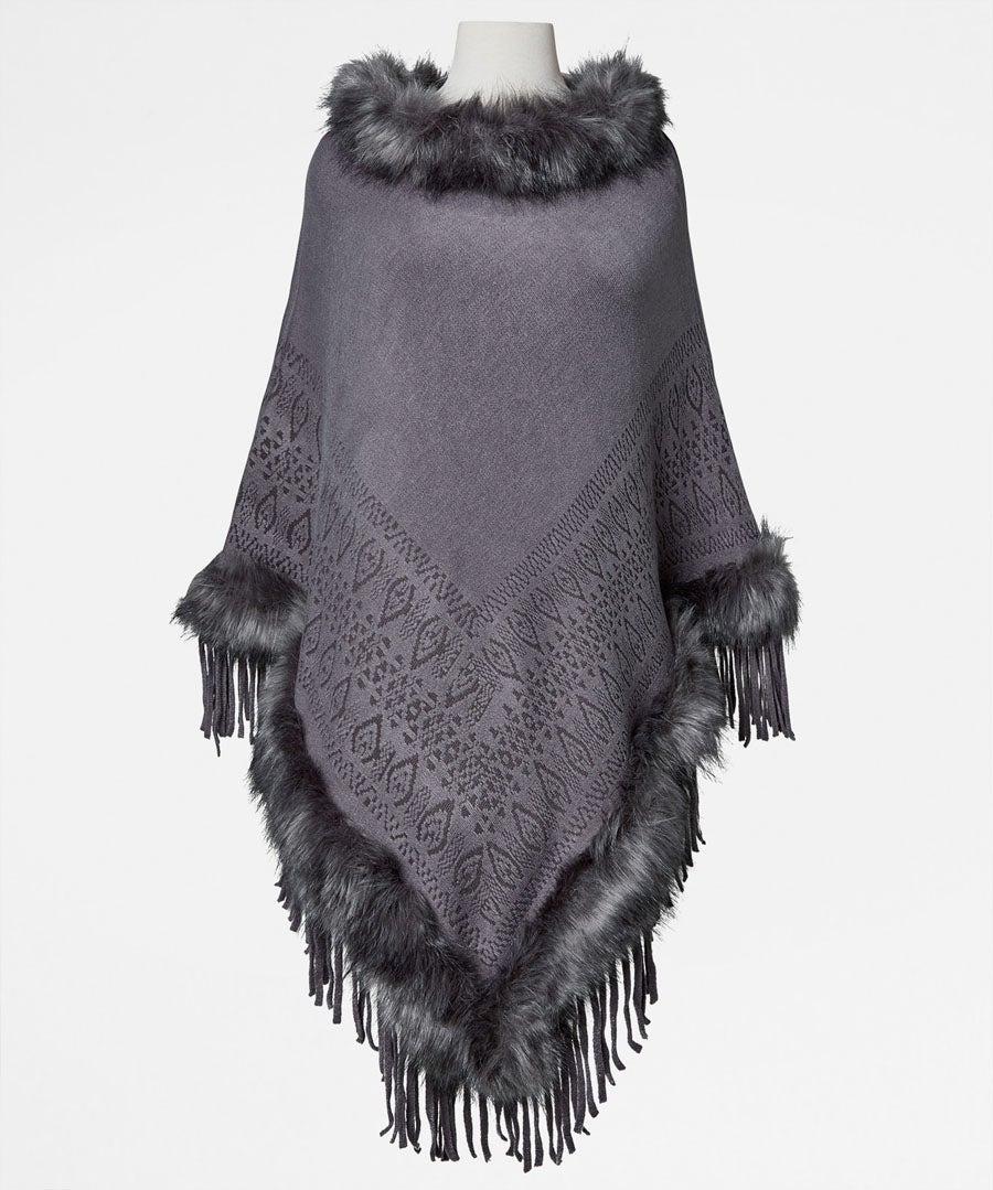 Stunning Faux Fur Poncho