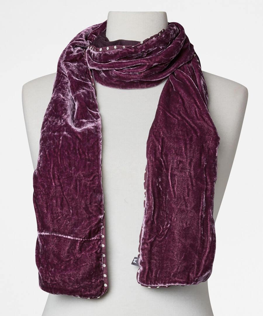 Real Silk Velvet Scarf Model Back