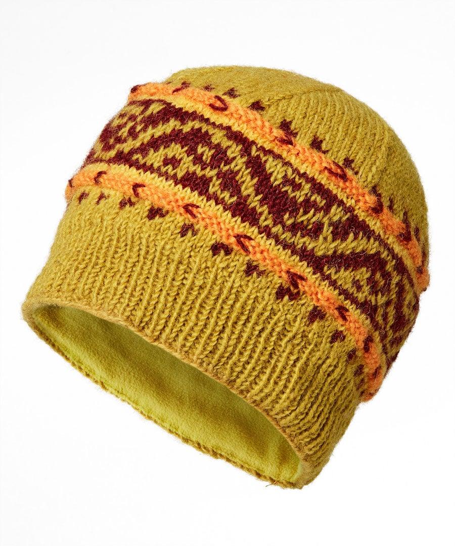Winters Dream Wool Hat Model Front