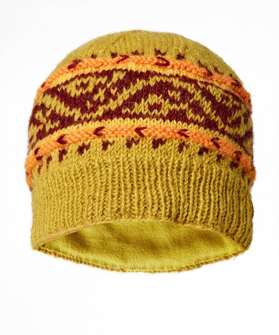 Winters Dream Wool Hat Model Back
