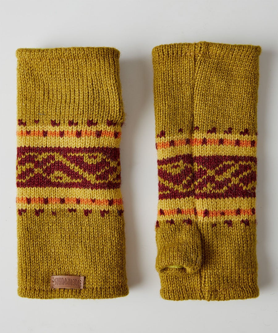 Winters Dream Wool Mitts Model Front