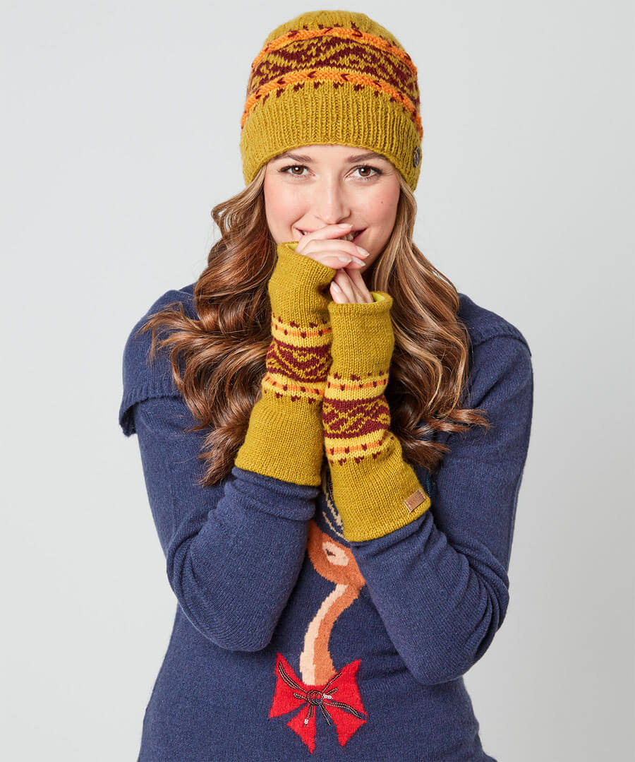 Winter's Dream Wool Mitts