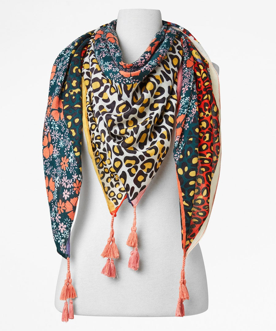 Perfect Patchwork Animal Scarf