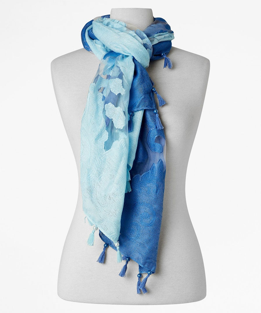 Mesmerising Ombre Scarf Model Front