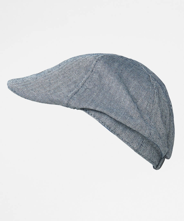 Herringbone Peaky Flat Cap