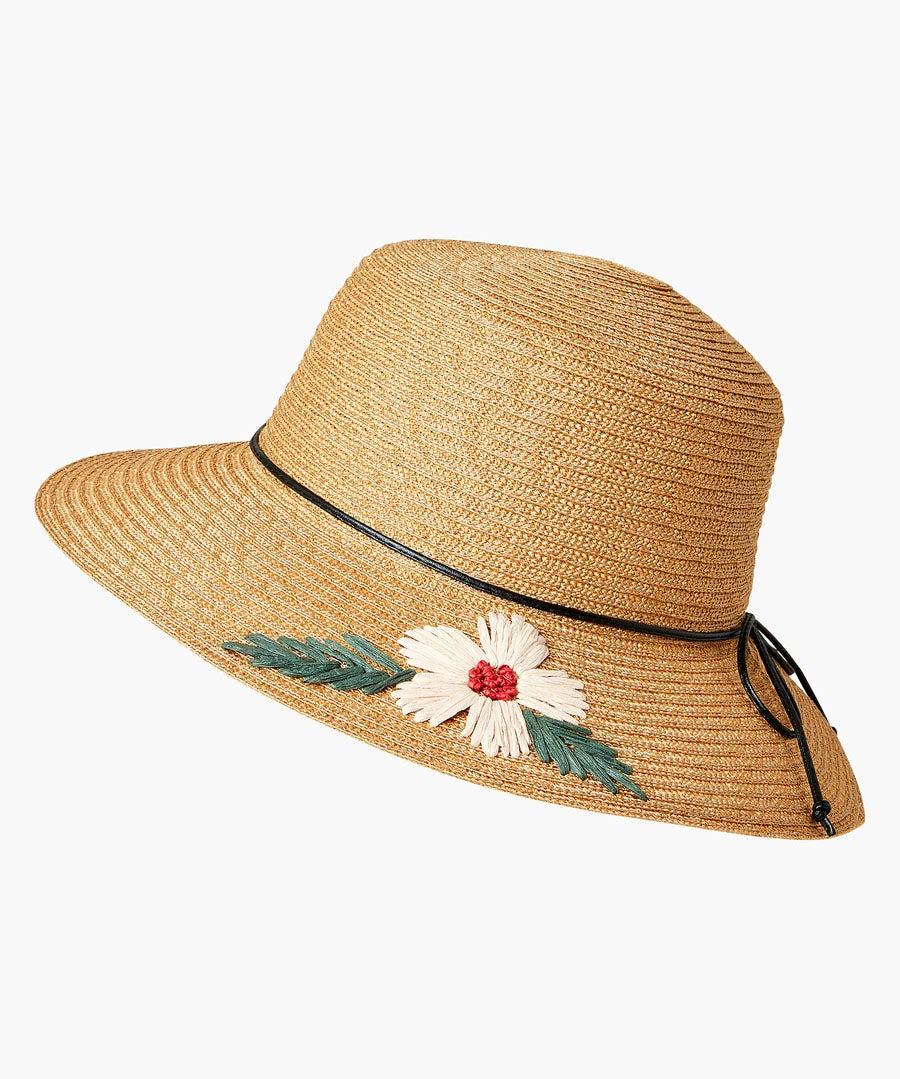 Daisy Summer Hat Model Front
