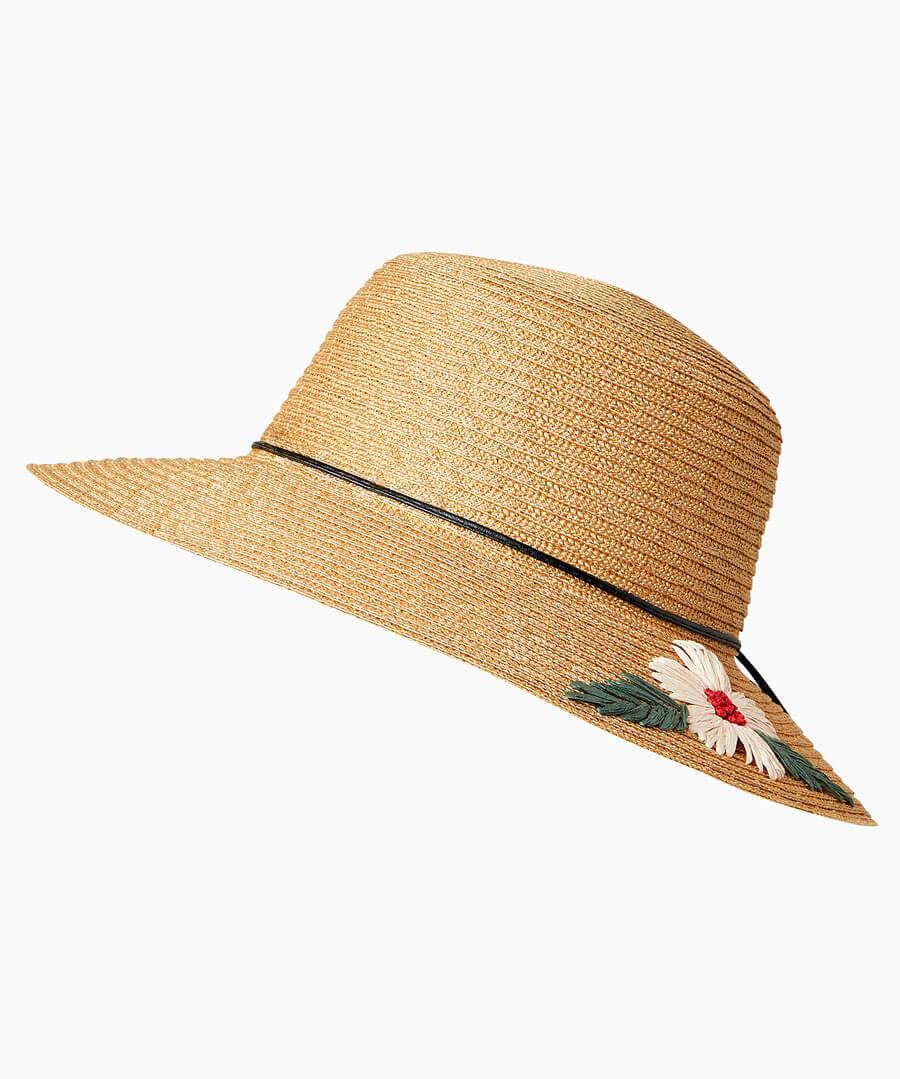 Daisy Summer Hat Model Back