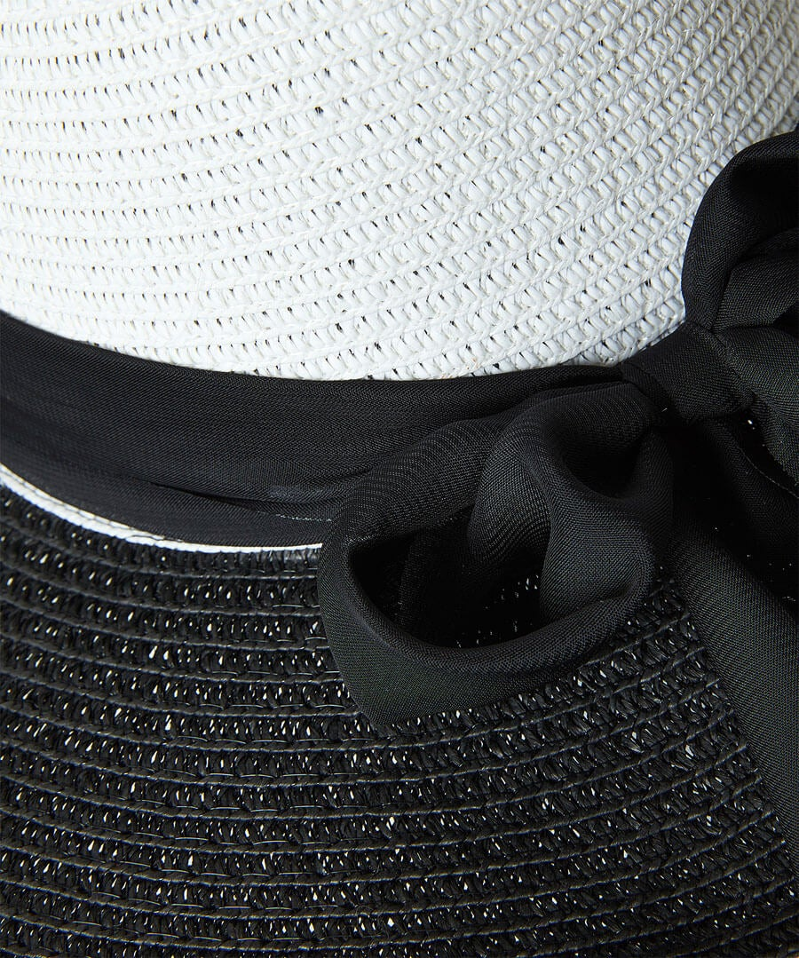 Monaco Scarf Trim Hat Back