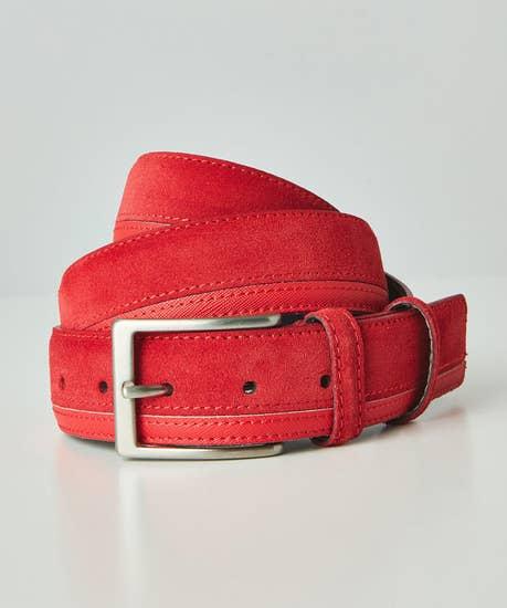 Suede Leather Italian Belt
