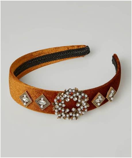 Diva Jewelled Velvet Headband