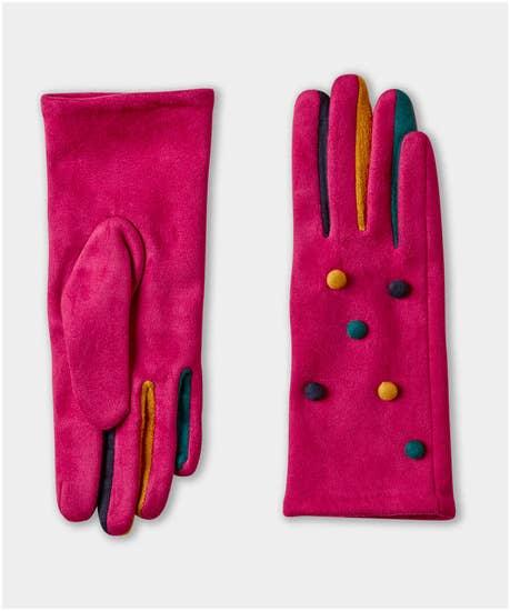 Drive Me Crazy Button Gloves