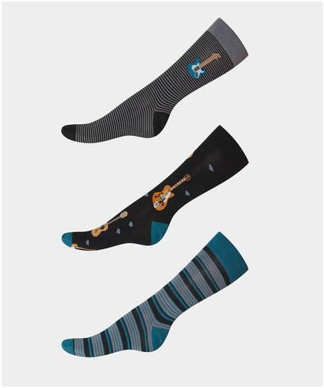 Music Mad 3Pk Of Socks