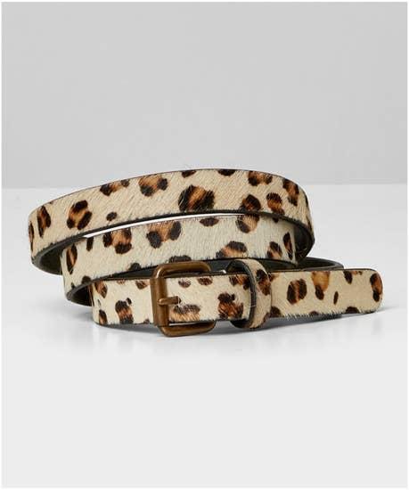 Lolas Leopard Leather Belt
