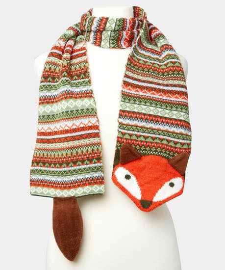 Foxy Knitted Scarf
