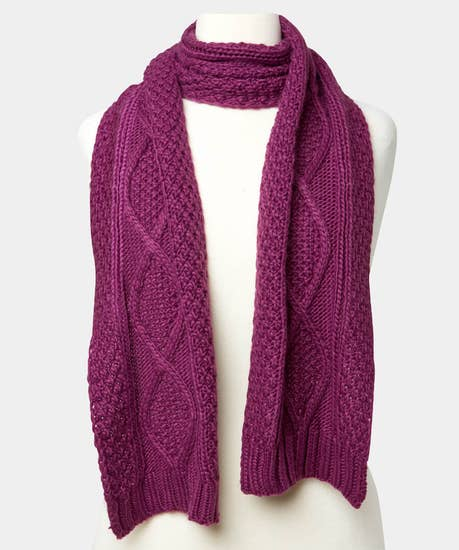 Nice And Cosy Cable Scarf
