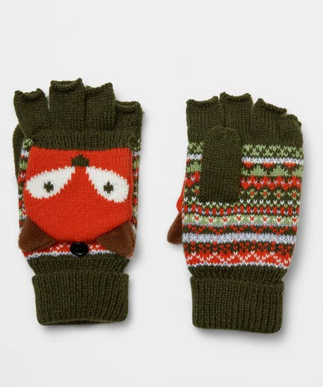 Foxy Knitted Mitts