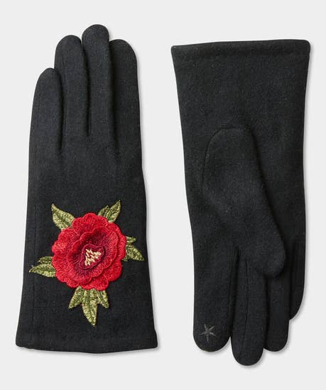Frosted Rose Cosy Gloves