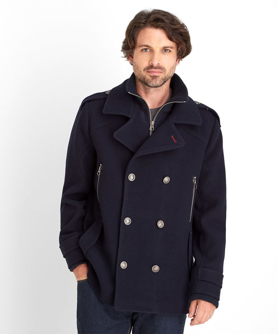 Harbour Coat Model Front