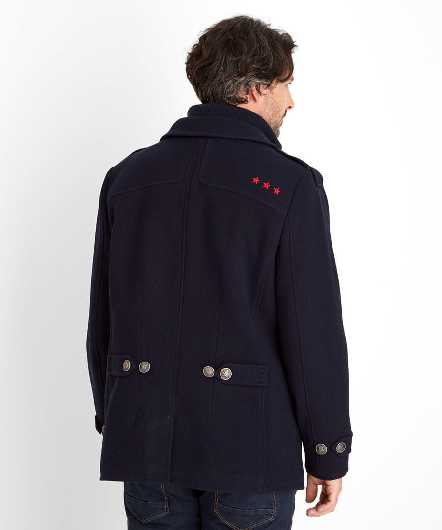 Harbour Coat Model Back