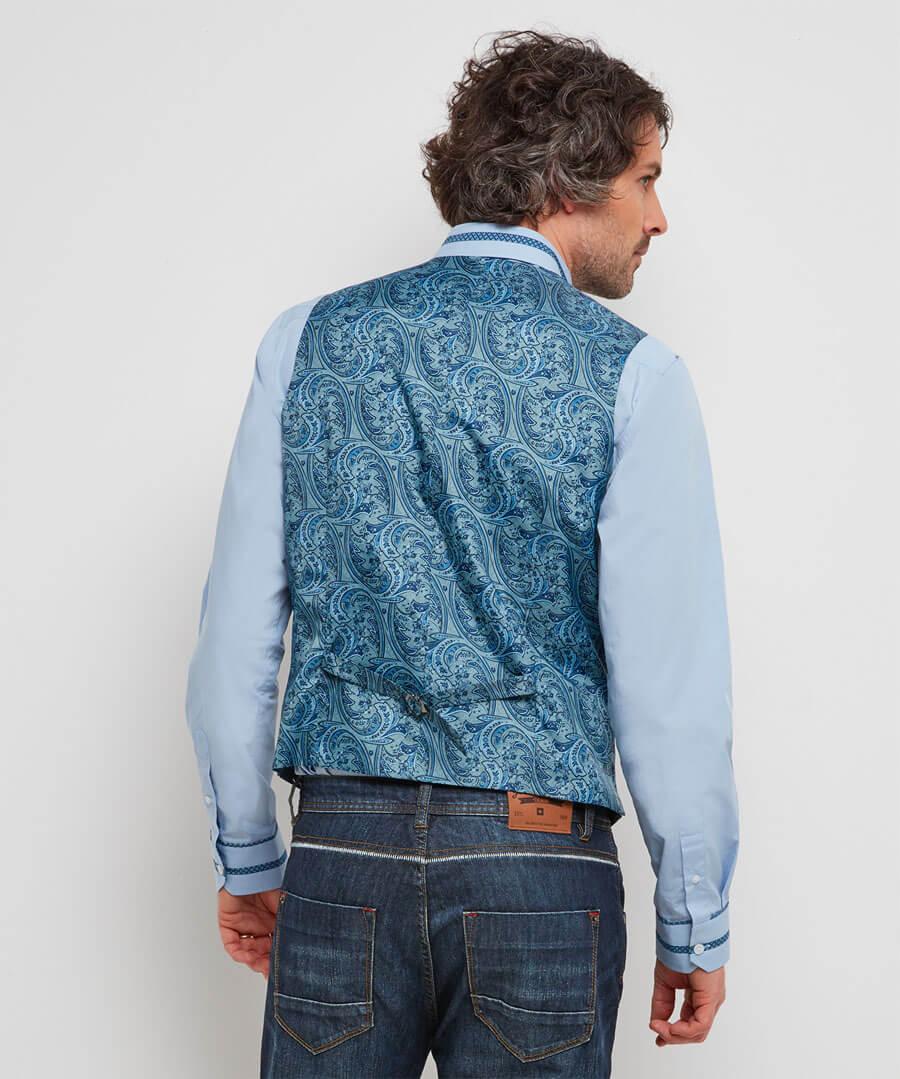 Irresistible Linen Mix Waistcoat Model Back