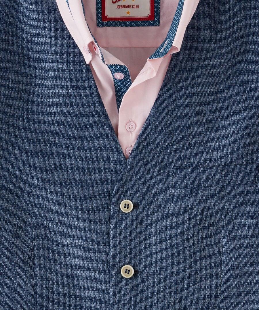 Irresistible Linen Mix Waistcoat Back