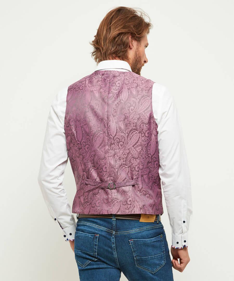 Charmed Check Waistcoat Model Back