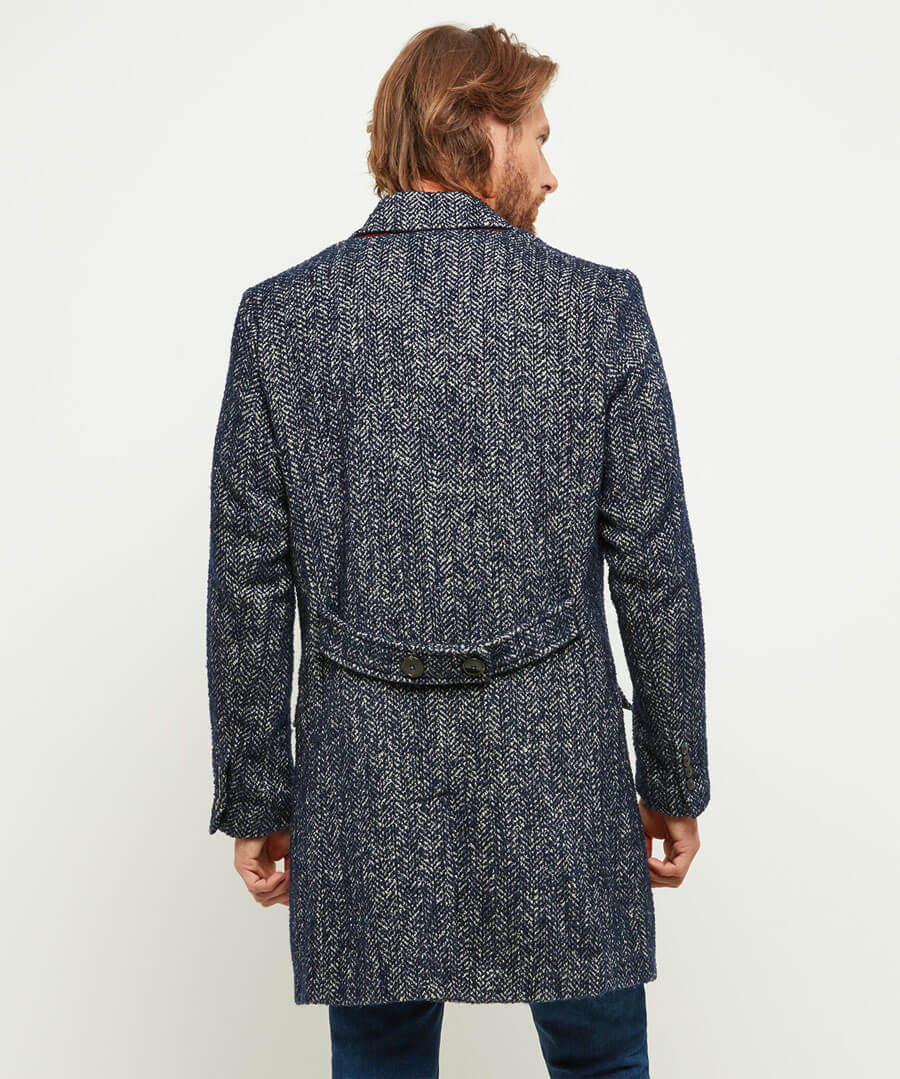 Charming Boucle Overcoat Model Back