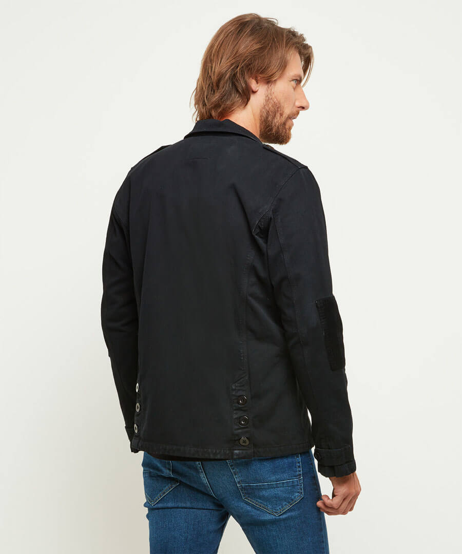 With The Band Jacket Model Back