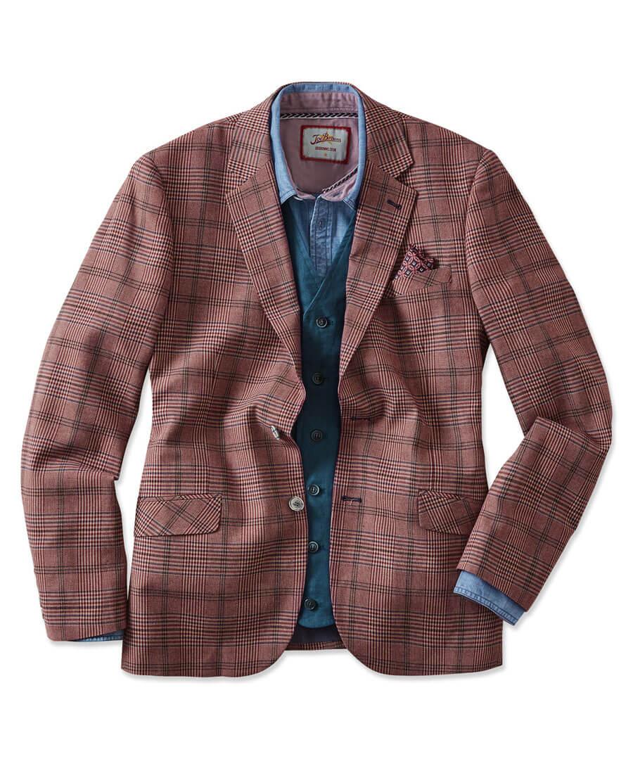 Charming Check Blazer Model Front
