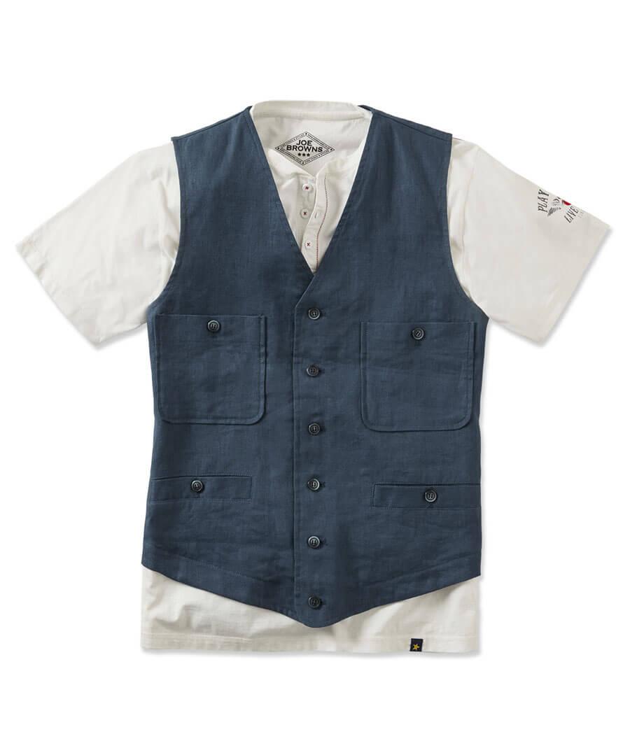 Let's Go Linen Waistcoat