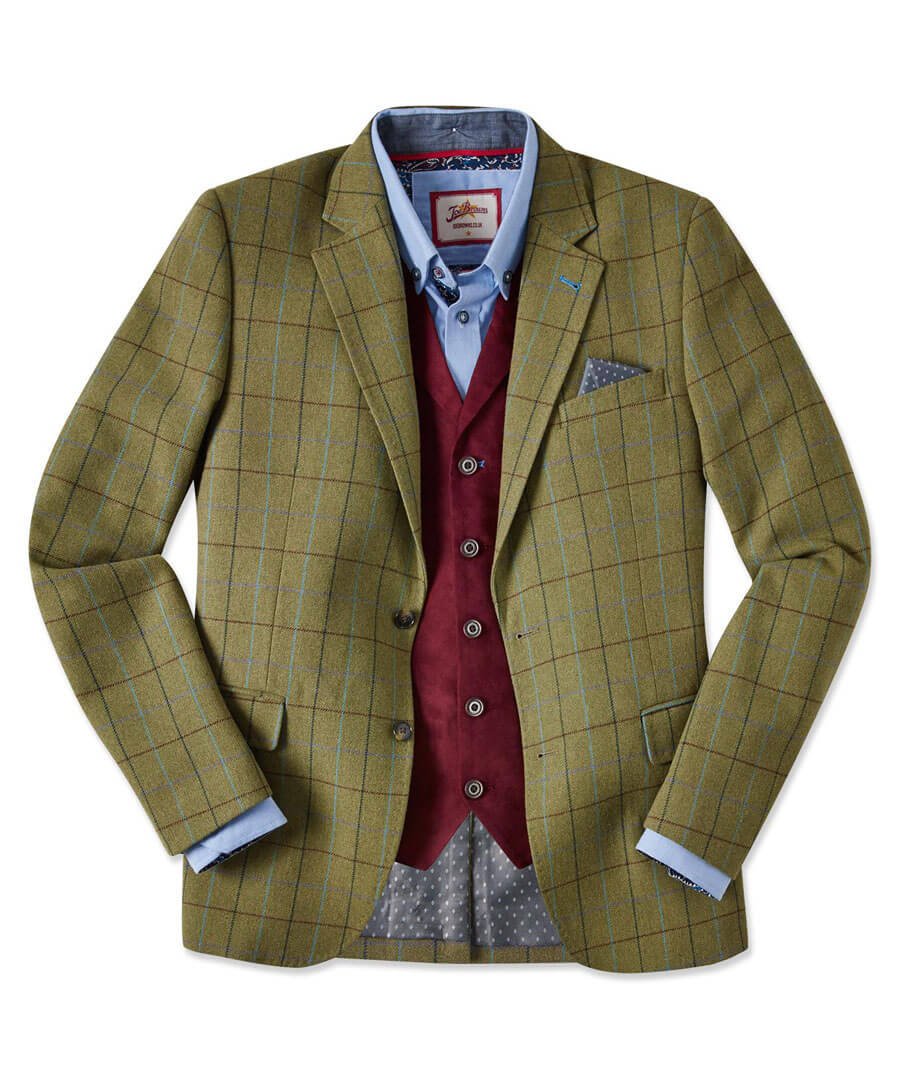 Country Check Blazer Model Front
