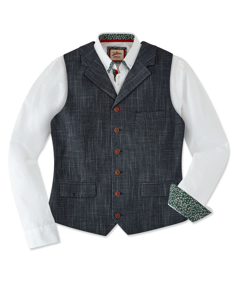 Confidently Cool Waistcoat Model Front